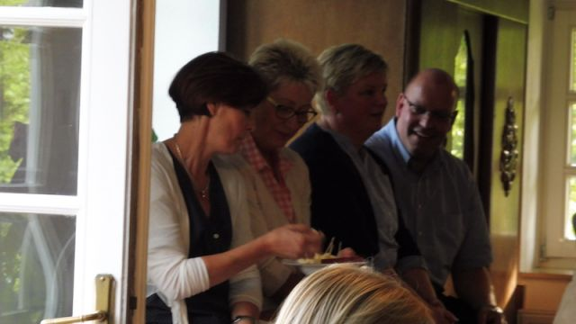 Unsere beiden Vorsitzenden mit dem Gastgebern Anja und Jörg Ambrosi